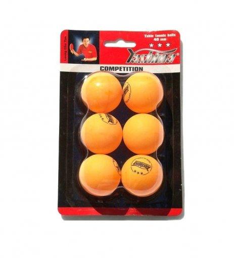 Kit 6 Bolinhas de Tênis De Mesa 3 Estrelas Yashima
