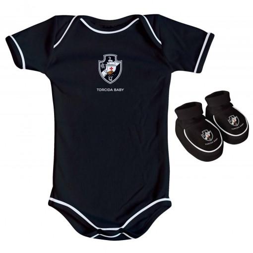 Kit Torcida Baby 2 Peças Body Colorido Vasco