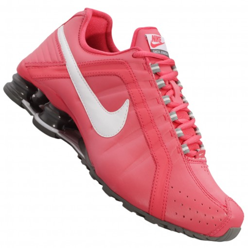 pretty nice 318f1 d43cd new style nike shox junior cinza e rosa b873a 05347