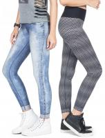 Calça Legging Live Reversible Washed City Jeans