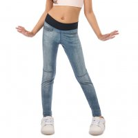 Calça Legging Reversível Rise Jeans Washed Cyan Jeans