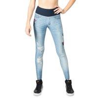 Calça Legging Live Reversível Rush Flower Blue Jeans