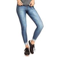 LEGGING JEANS PLUS MOTIVATION LIVE tamanho:M;cor:Jeans