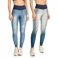 Calça Live Legging Jeans Reversible Active Life