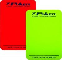 Cartão Arbitro Poker Futebol Campo Oficial