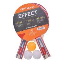 Kit Tenis De Mesa Poker Effect 1 rede + 2 raquetes + 3 bolinhas