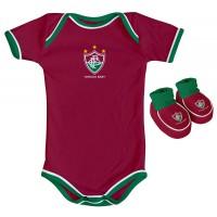 Kit Torcida Baby 2 Peças Body Colorido Fluminense