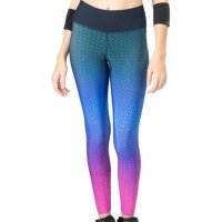 Calça Legging Live Reversible Optical Degradê Texture