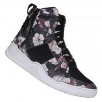 Tênis Hardcore Footwear Em Couro Mestiço Tecido Floral