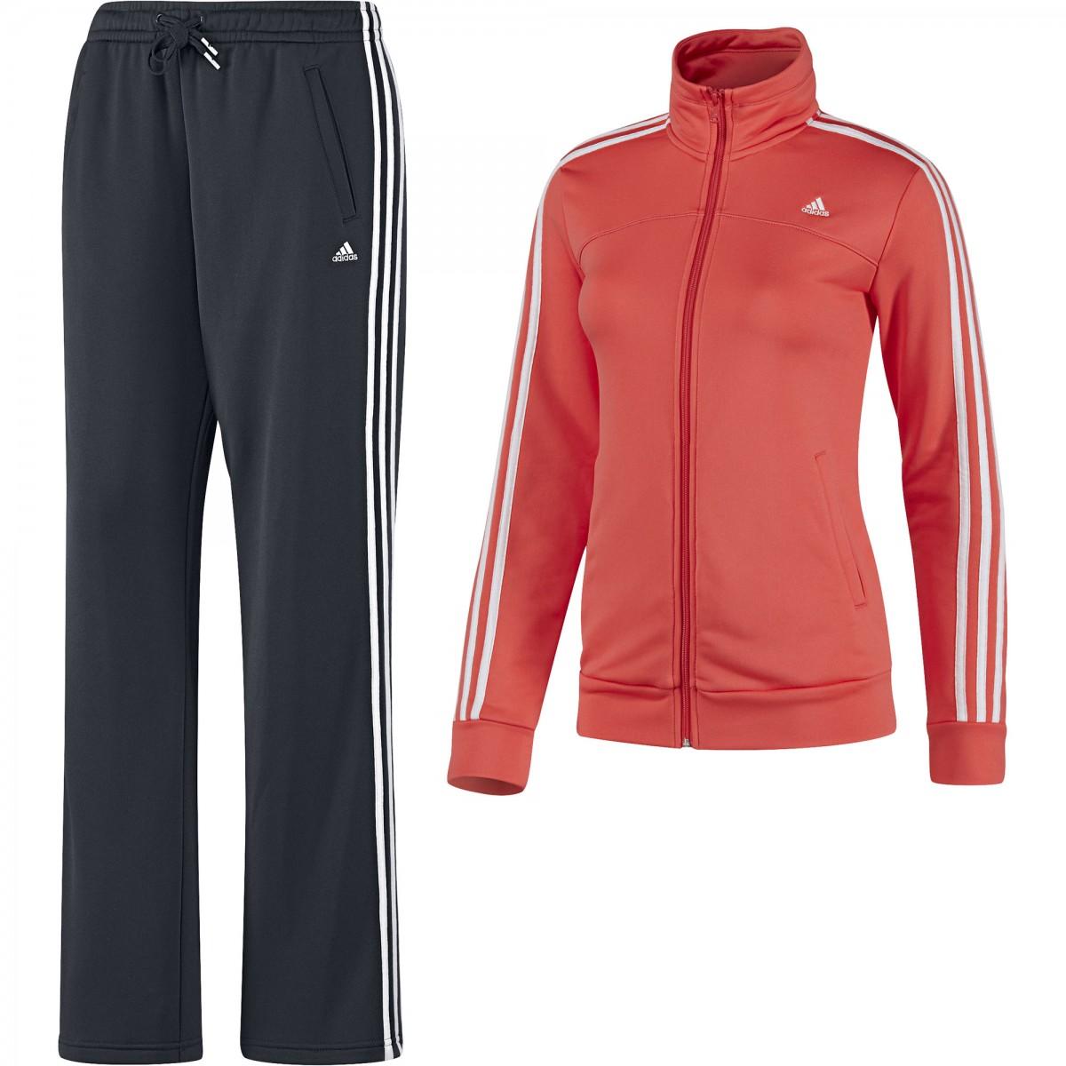 f50e5d34733 Agasalho Adidas Ess 3s Knit Feminino