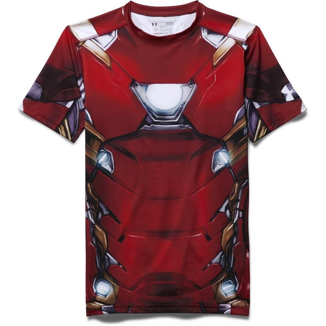 75380830dfb6b Camisa Under Armour De Compressão Iron Man Suit Ss
