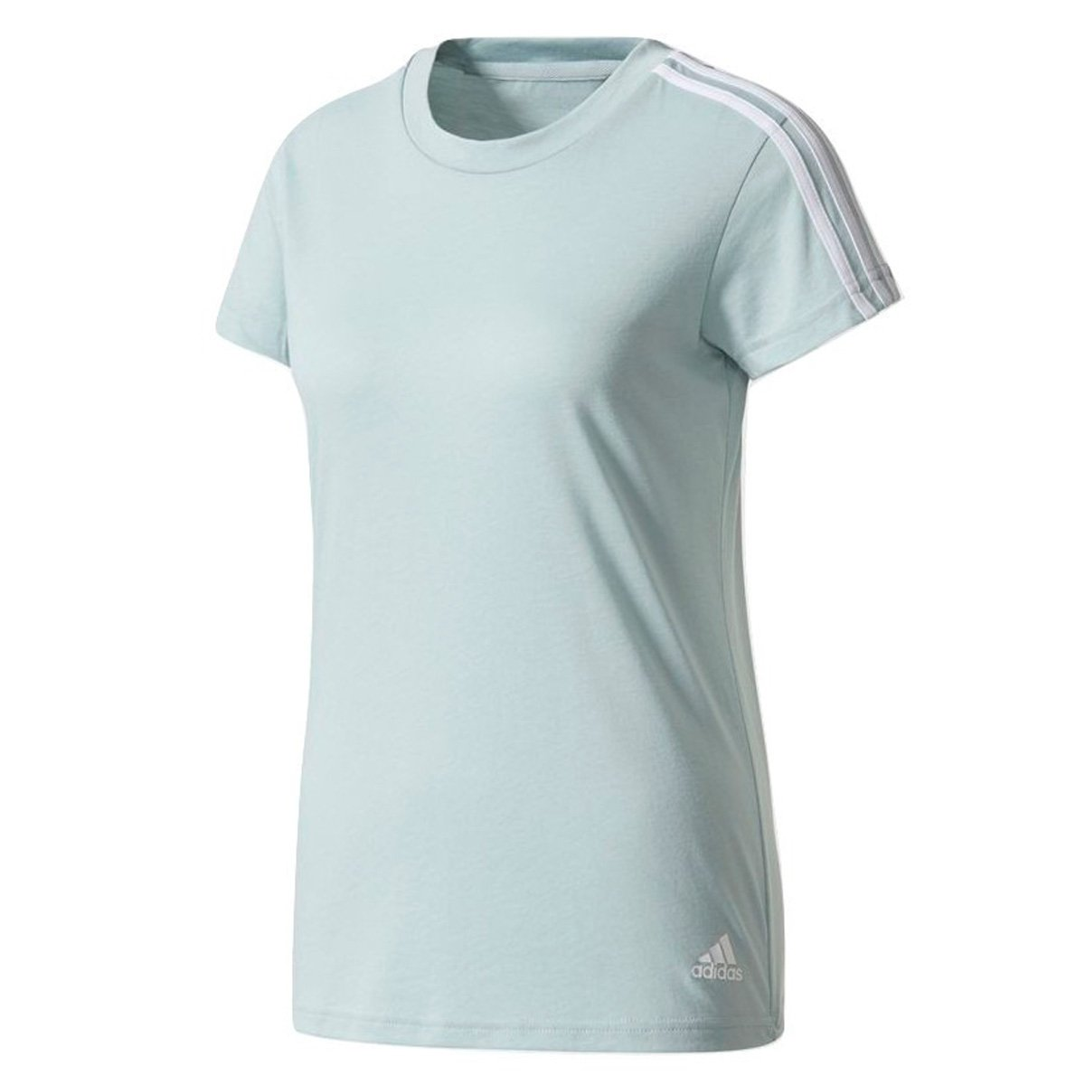 Camiseta Adidas Essentials 3 Stripes Feminina  bd5d745a8f1