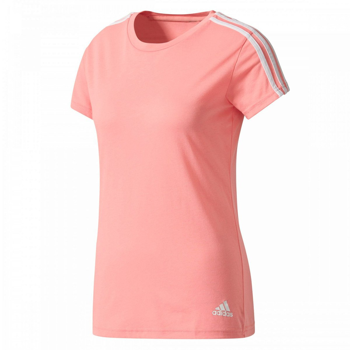 f810396bd2a Camiseta Adidas Essentials 3 Stripes Feminina