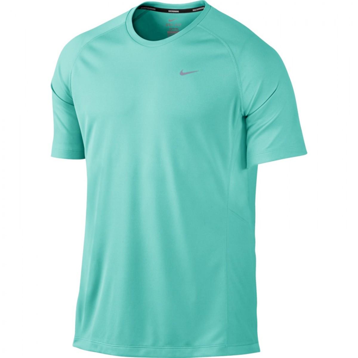 Camiseta Nike Manga Curta Miler SS UV  b33aef81296ff