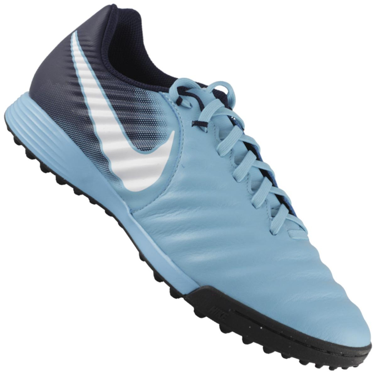 304921083f ... Mercurial Prata e Preto f97ff061f7abe1  Chuteira Society Nike Tiempox  Ligera Iv Tf Treino e Corrida a99bffe3d1f643 ...