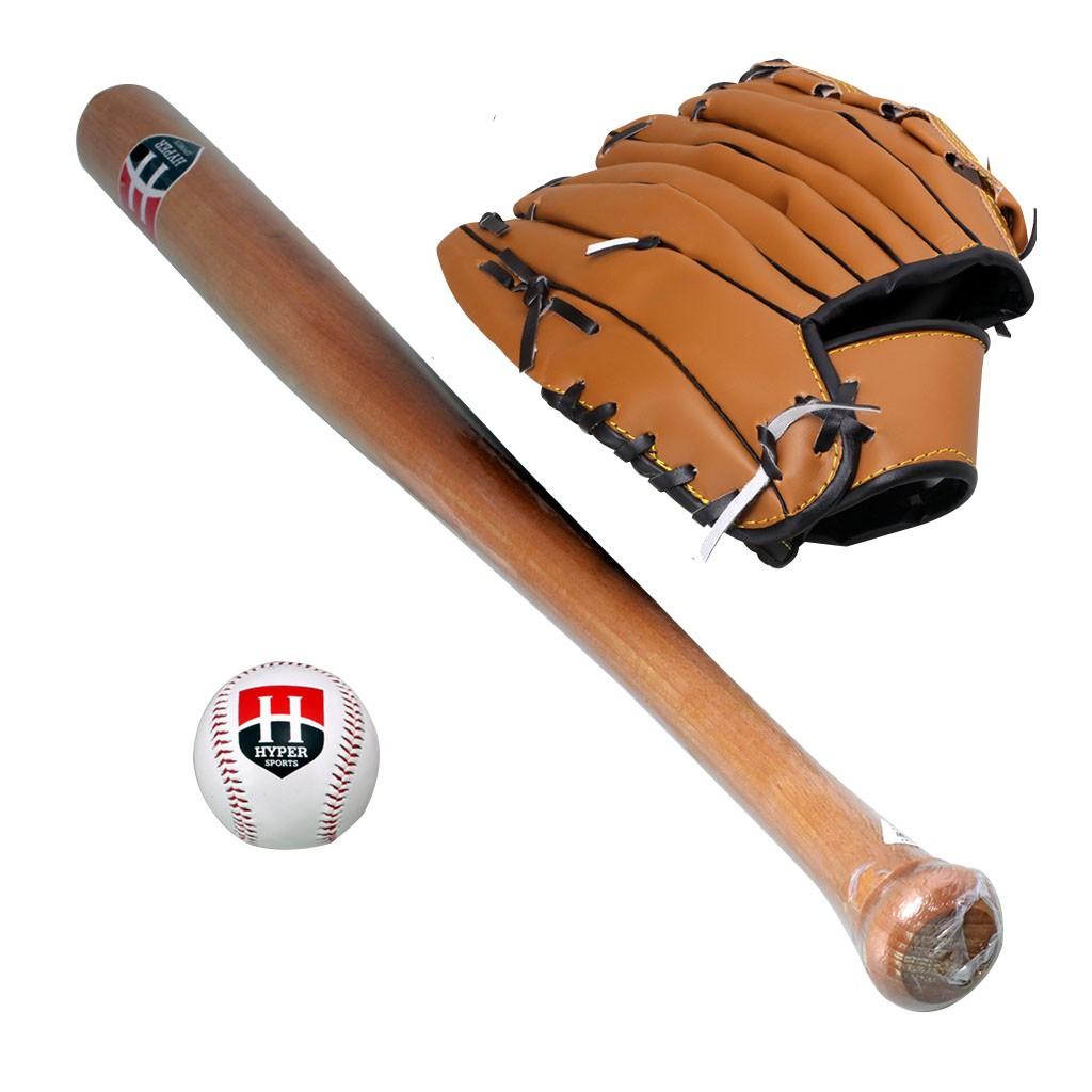 7728a24391 Kit Taco De Baseball Madeira 1 Bola 1 Luva