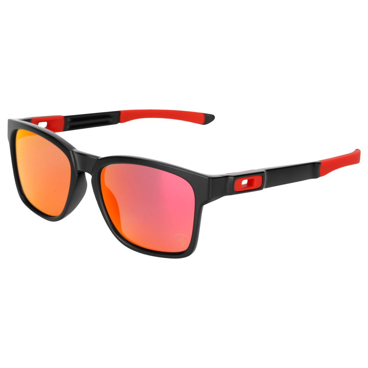 bb0110f46b60b Óculos Oakley Catalyst Matte Black Ruby Iridium Ferrari