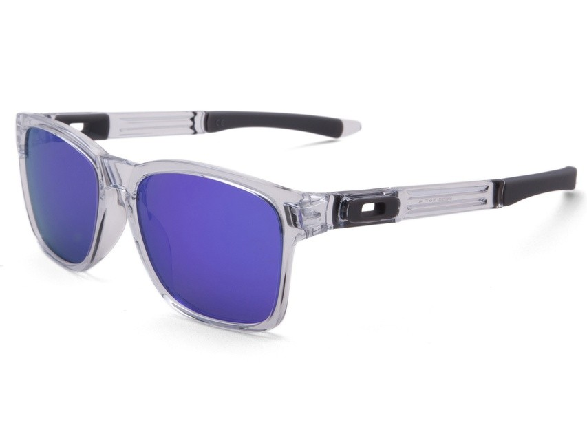 9fb8aaad0013d Óculos Oakley Catalyst Polished Clear Violet Iridium