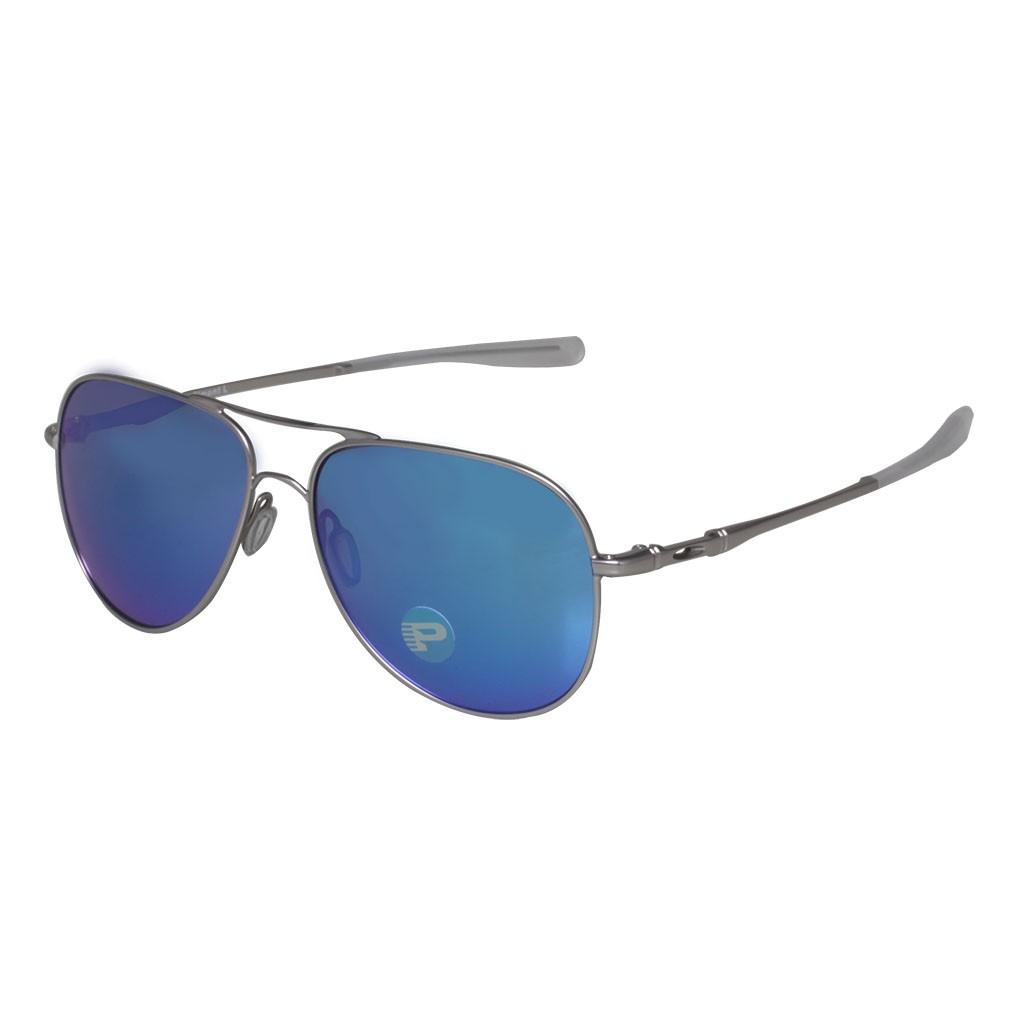 Óculos Oakley Elmont L Stn Chrome Sapph Iridium Polarizado ca69471fcf