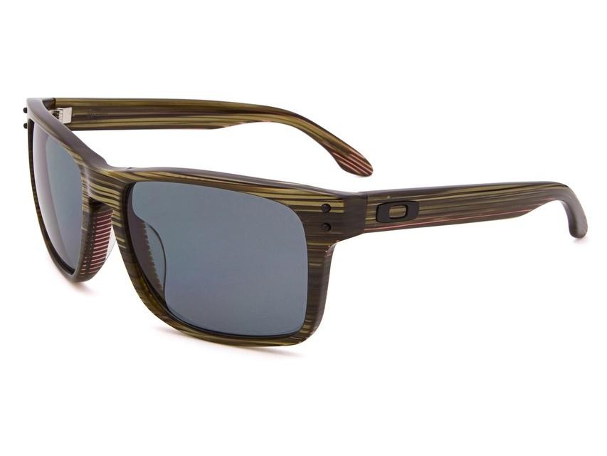 b85a78e10 Óculos Oakley Holbrook Lx Banded Green Grey Polarizado