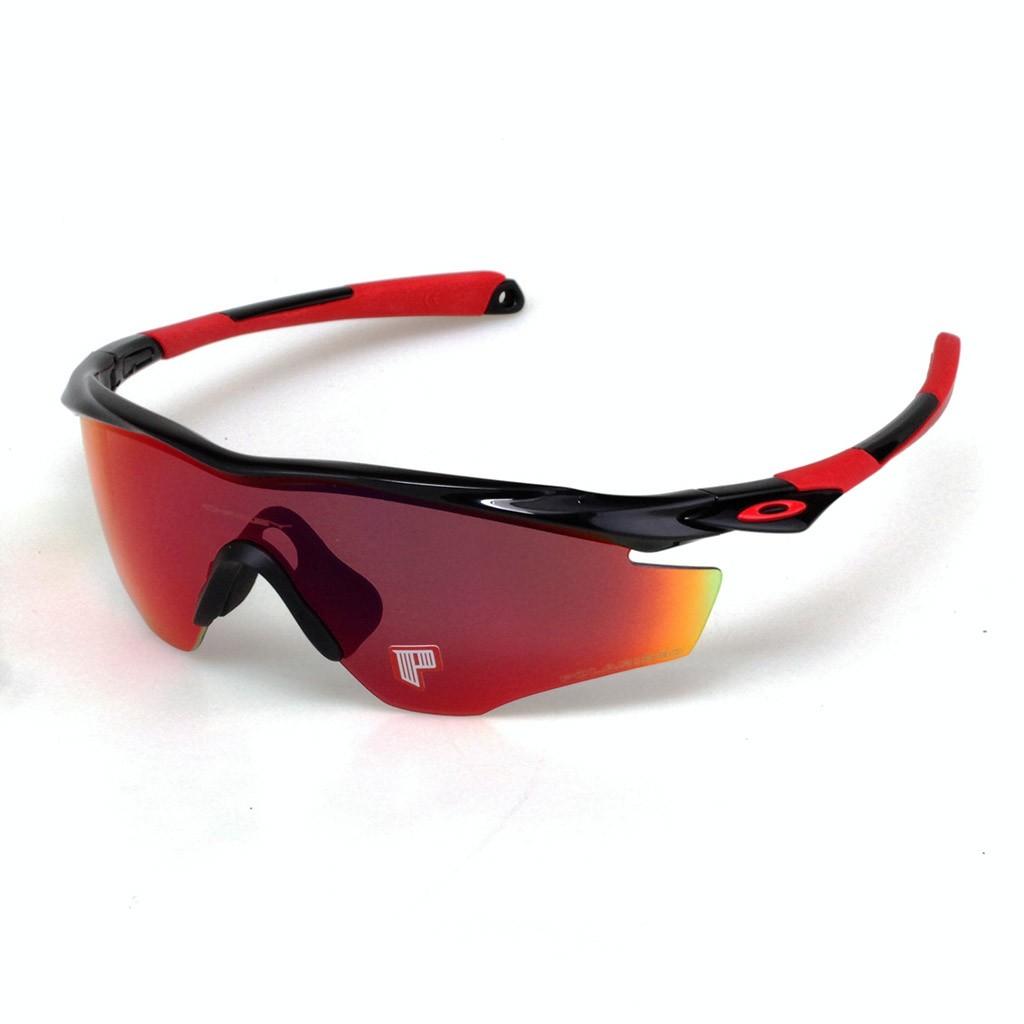 f58007c471271 Óculos Oakley M2 Matte Black Oo red Iridium Polar