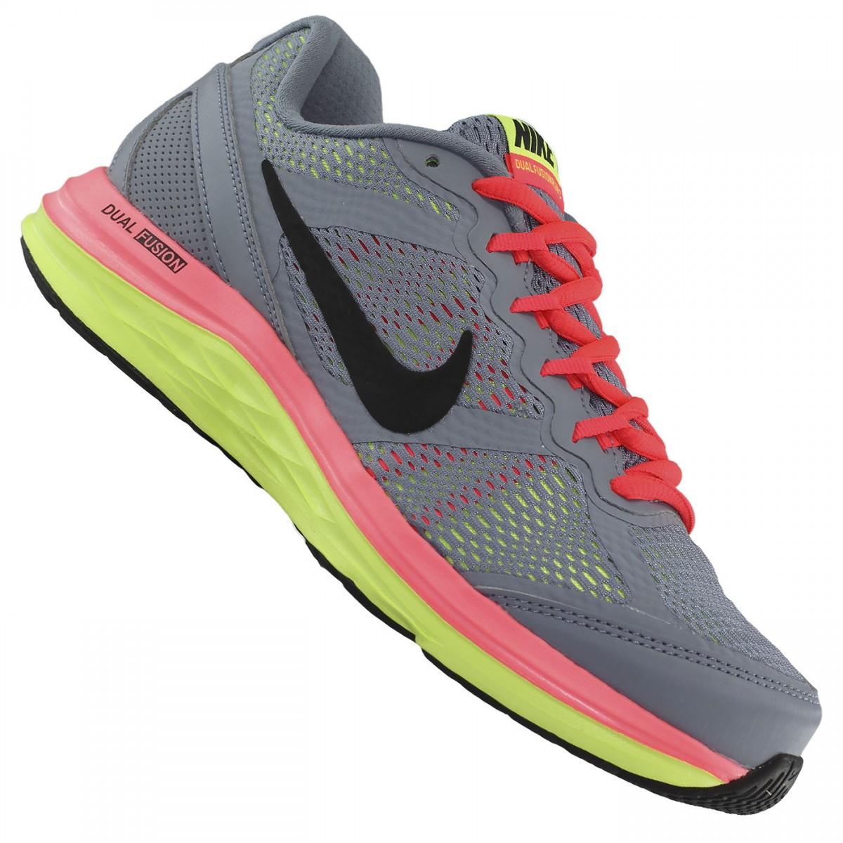 new styles c680c e6ba8 Tênis Nike Dual Fusion Run 3 WMNS  Treino e Corrida