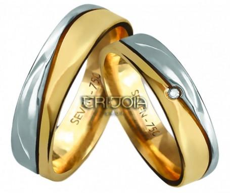 Aliança Seven Premium CAL1026/DAL1026 AU18K/750