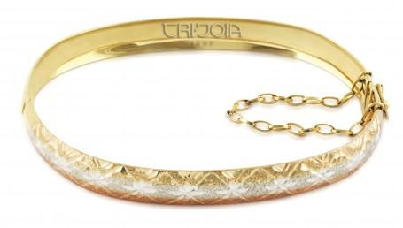 Bracelete em Ouro 12k/416au Tricolor
