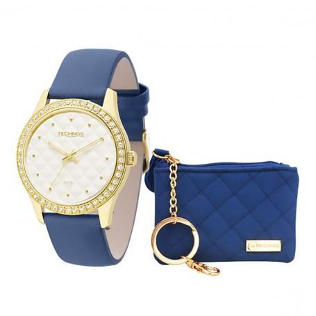 57b0a7e9a4d Kit carteira + Relógio Technos Fashion Trend
