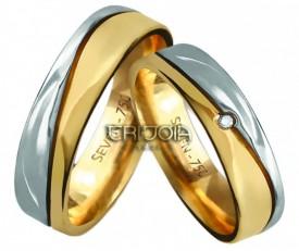 Imagem - Aliança Seven Premium CAL1026/DAL1026 AU18K/750