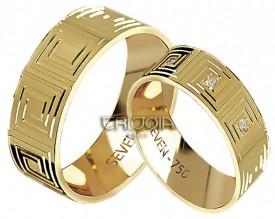 Imagem - Aliança Seven Premium CAL1176/DAL1176 AU18K/750