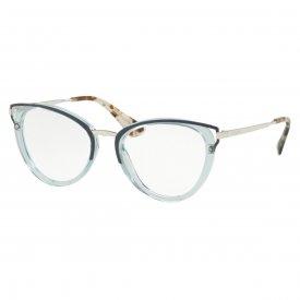 Óculos de Grau - Prada - Feminino - Cor da Armação  Prata 957273da9f