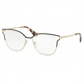 67a11461919c3 Óculos de Grau - Prada - Feminino - Cor da Armação  Dourado - Modelo ...