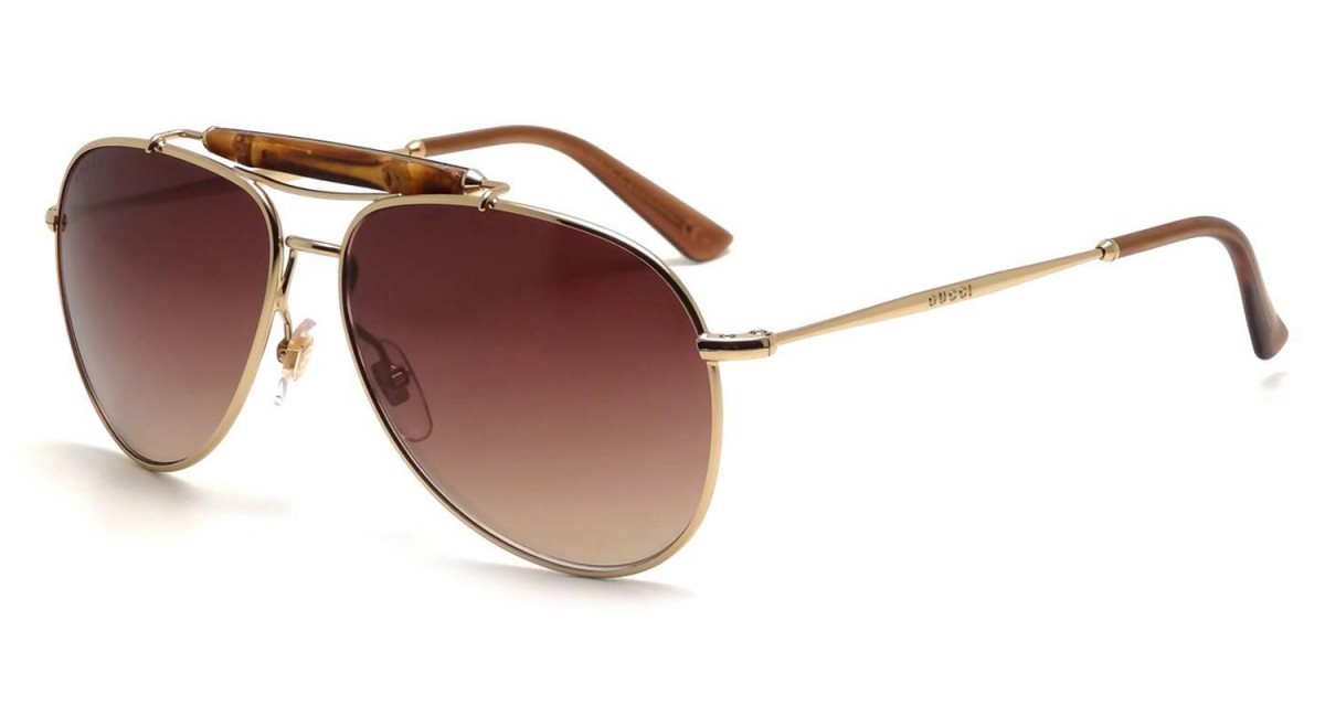3e1bfb444b0aa Compre Óculos de Sol Gucci Bamboo em 10X   Tri-Jóia Shop