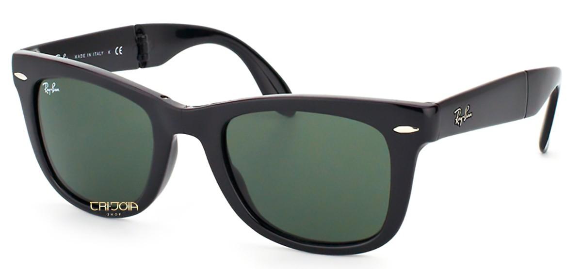 180d850b3 Óculos de Sol Ray Ban Wayfarer Folding RB4105 601   Tri Jóia Shop