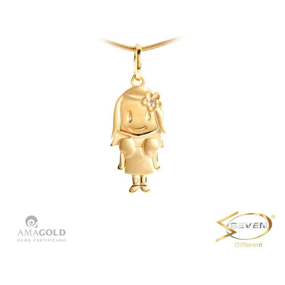 5d1008b7caf01 Compre Pingente Ouro 18K Filhos Menina em 10X   Tri-Jóia Shop