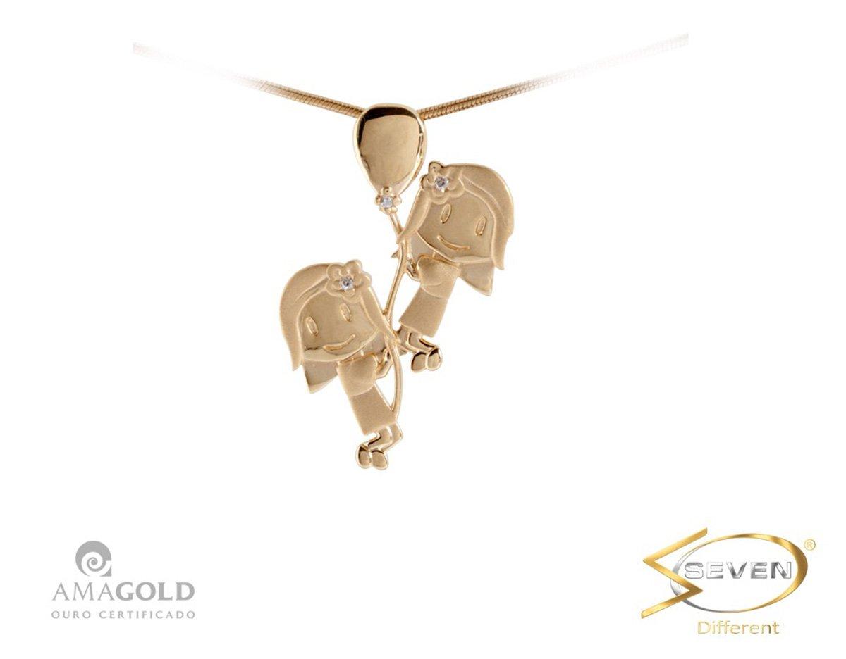 686cf6fd81322 Compre Pingente Ouro 18K Filhos Meninas Balão em 10X   Tri-Jóia Shop