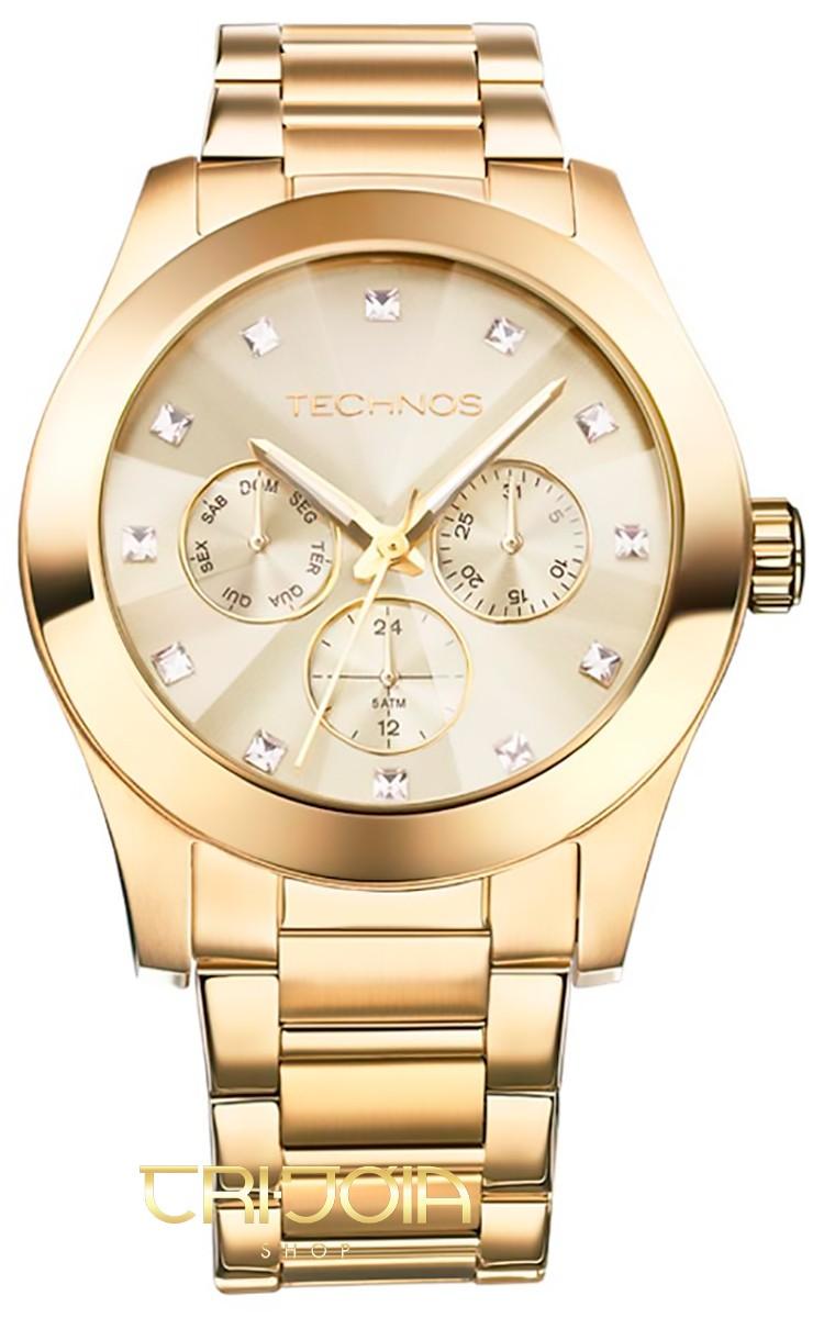 Relógio Feminino Analógico Elegance Crystal Technos 6P29AGD 0bed72acd8