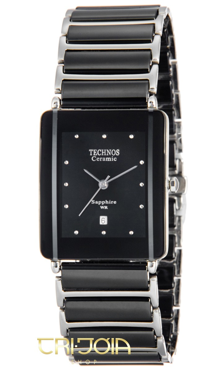 0c9b9658e72e1 Relógio Feminino Analógico Cerâmica Safira Technos GN10AB