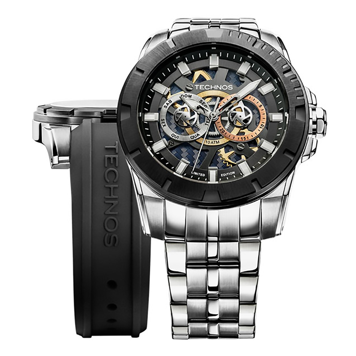 e97aefa565b Relógio Technos Performance Troca Pulseira Masculino