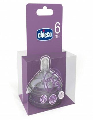 Bico de mamadeira fluxo rápido Step UP 3 para +6 meses com 2 unidades - Chicco