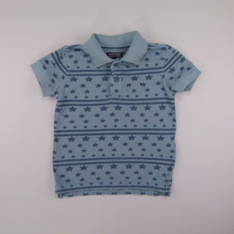 Camiseta Polo Garment Dye Faded Demin Tommy Hlifiger  - 029340