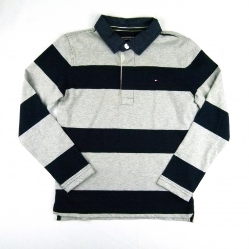 Camiseta Polo Phill Stripe Rugby Black Iris - 025695