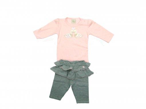 Conj Body/legging Cisne Anjos Baby