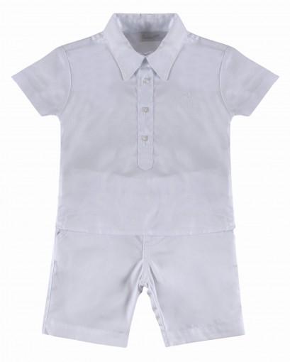 Conjunto 2 peças Camisa Bata e Bermuda Sarja Barbara Kids - 029675