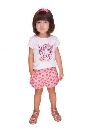 Conjunto Blusa e Shorts Turma da Malha - 028242