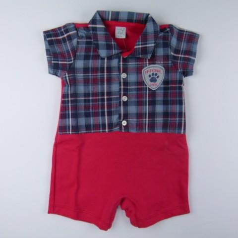 Macacão Camisa mc Tricoline Tigre Vicky Lipe - 029632