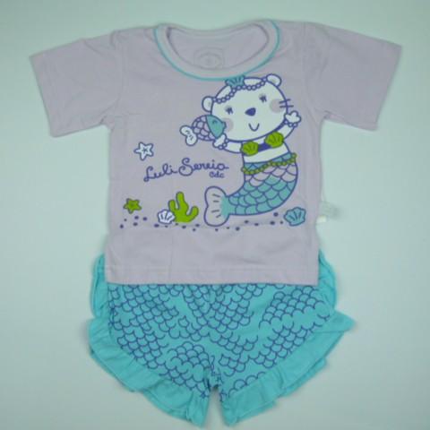 Pijama Luli Sereia Cara de Criança