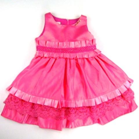 Vestido Chic Cinto Pregas Animê - 023175