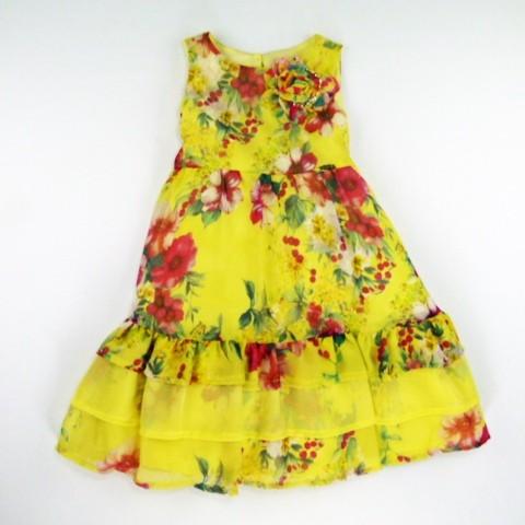 Vestido Floral Chiffon Animê - 023173
